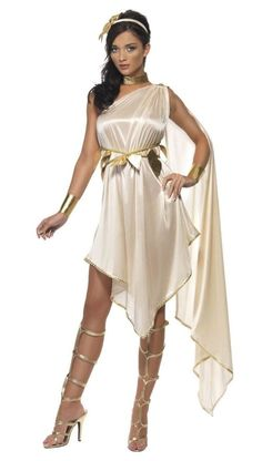 Goddess Costume Adult Greek or Roman Toga Halloween Fancy Dress Outfit Roman Goddess Costume, Goddess Fancy Dress, Greek Dress, Toga Party, Empire Romain, Egyptian Costume, Birthday Party Outfits, Sexy Halloween Costumes, Costume Dress