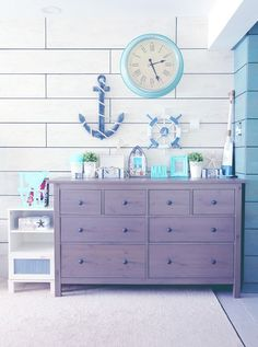 Ikea Room Divider: Passionate Look With Ikea Room Divider Coach ~ Home Inspiration Ikea Room Divider, Beach House Decor, Home Decor, Nautical Home, Vintage Room, Blue Rooms, Room Themes, My New Room, Coastal Decor