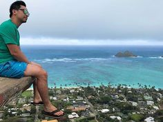 Reflecting on the Musubi I just ate and now pondering what's for lunch... #inbetweenmeals --- Lanikai Pill Box Summit Oahu --- Check out more Oahu moments in profile stories.
