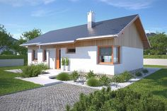Model House Plan, House Plans, Model Homes, Ideas Para, Bungalow, Outdoor Structures, House Design, Cabin, How To Plan