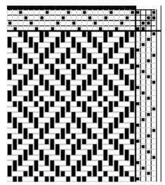 four shaft weaving patterns - Google Search