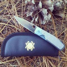 Spyderco Centofante Titanium C155TIP plain edge. Made in Japan with VG,  #madeinjapan #spyderco #spydercoknives #titanium