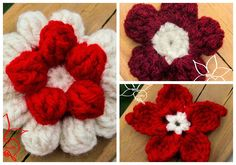 3 pretty flowers- FREE Patterns Review MNE Crafts Check out her review here:http://www.mnecrafts.com/2014/07/random-pattern-find-flowers.html