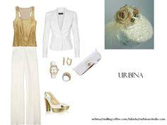 Blanco y oro, fresca e impecable. URBINA