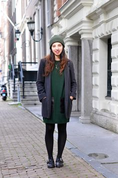 hunter green with grey
