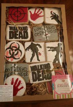 Walking Dead cookies by SugarBliss Bakery Facebook.com/sugarblissbakerytx