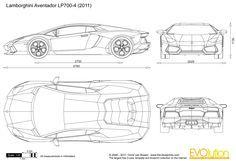 Drawing car blueprints using blender blender 3d pinterest draw lamborghini blueprints malvernweather Image collections