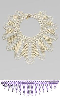 This pin was discovered by eye – Artofit Diy Necklace Patterns, Beaded Jewelry Patterns, Beading Patterns, Bead Crafts, Jewelry Crafts, Handmade Jewelry, Seed Bead Jewelry, Bead Jewellery, Tatting Jewelry