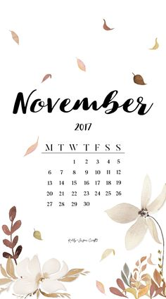 November Calendar Wallpaper for the year 2k17! It's not over just yet!