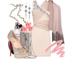 Louboutin pumps, Swarovski purse, Sass & Bide dress; so feminine and glam!