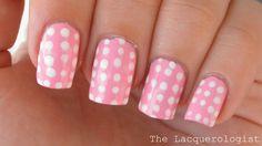 girly dot nails =)