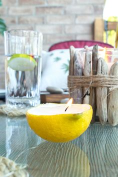 DIY citrus candles f