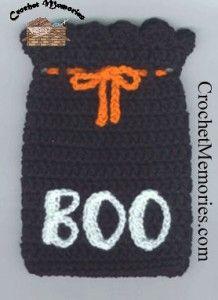 www.crochetmemories.com/blog Free pattern for a Halloween bag