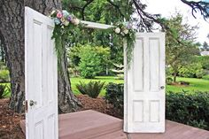 Vintage doors are also a great item to display things from, menus and seating…