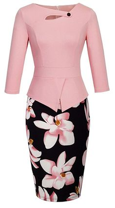 online shopping for YUNICUS Women's Elegant Chic Bodycon Formal Dress from top store. See new offer for YUNICUS Women's Elegant Chic Bodycon Formal Dress Floral Evening Dresses, Elegant Dresses, Casual Dresses, Fashion Dresses, Formal Dresses, Bodycon Dress Formal, Prom Dress, Elegant Chic, Business Dresses