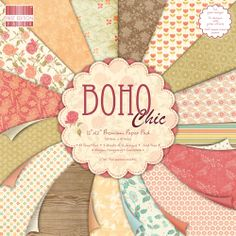 First Edition 12x12 Paper Pad - Boho Chic