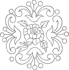 Vintage Floral Embroidery Pattern! - The Graphics Fairy