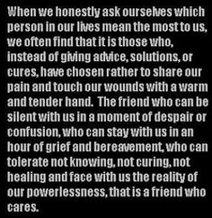 life inspiration quotes: The Friend That Touches Us The Most Inspirational Quote