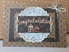 New home- Congratulations handmade card door MadeByMiekXo op Etsy