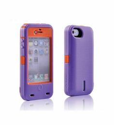 iBattz iphone 4 4S Purple Removable Battery Case Mojo Armored 1700mAh $66.99