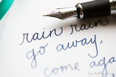 Write the rain away with a Jinhao x750 fountain pen and Diamine Blue Pearl ink! Pin this for later.