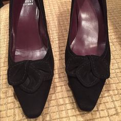 """Stuart Weitzman Black Suede Heels These shoes are in pretty good condition. The suede could use a cleaning. 2"""" heel Stuart Weitzman Shoes Heels"""