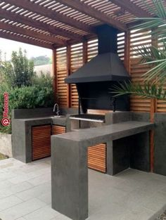 Stunning Outdoor Kitchen Ideas & Designs (With Pictures) For Stunning Outdoor Kitchen Ideas & Designs (With Pictures) For 201926 DIY Outdoor Grill Stations & Kitchens - Outdoor & Spaces - amp DIY Grillsta Diy Outdoor Kitchen, Backyard Kitchen, Outdoor Cooking, Backyard Patio, Outdoor Decor, Outdoor Ideas, Outdoor Landscaping, Landscaping Ideas, Covered Pergola Patio