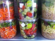 un aperçu de nos salades été 2014 Voss Bottle, Water Bottle, Lunch, Fresh, Drinks, Healthy, Food, Gourmet, Salads