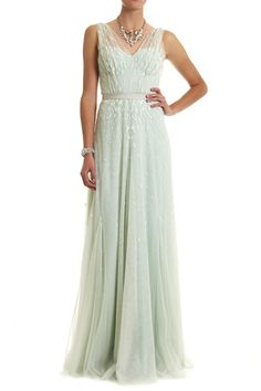 Lisa Ho  Ombre Beaded Gown $3299/$1500 in mint green....gorgeous!!!! I can't say it enough...i'm' getting this dress!!!!