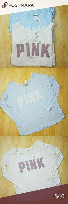 Pink Victoria's secret modal soft shirt lot Pink Victoria's secret modal soft shirt lot. Two shirts total. Size small PINK Victoria's Secret Tops Tees - Long Sleeve