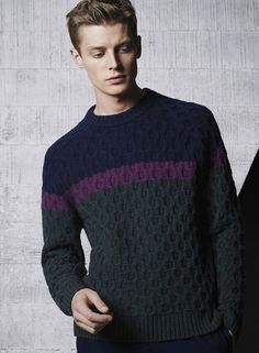 fagggotries: Janis Ancens for Lacoste 2015 Knitwear Fashion, Men's Knitwear, Androgynous Fashion, Sweater Weather, Vintage Men, Shirt Style, Men Sweater, Men Casual, My Style