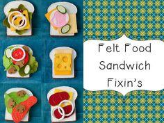 felt food sandwiches