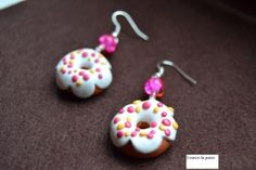 Boucles d'oreilles donuts fimo Prix de 3 euros Polymer Clay, Drop Earrings, Blog, Donuts, Eve, Pasta, Inspiration, Cold Porcelain, Accessories