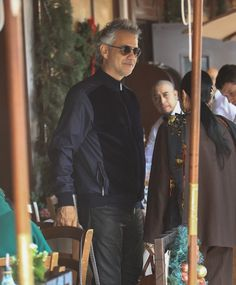 Andrea Bocelli has lunch at Il Pastaio in Beverly Hills, California on December 7, 2016.