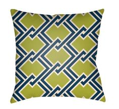 Buy the Surya Green / Navy Direct. Shop for the Surya Green / Navy Litchfield Wide Square Geometric Pattern Polyester Outdoor Accent Pillow Cover and save. 20x20 Pillow Covers, Sofa Cushion Covers, Throw Pillow Cases, Geometric Pillow, Geometric Patterns, Navy Bedding, Outdoor Throw Pillows, Accent Decor, Decorative Pillows