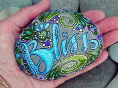 Summer Bliss /Painted Rock/ Sandi Pike Foundas by LoveFromCapeCod, $69.00