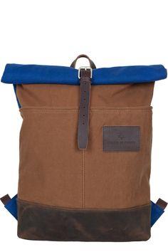 canvas leather military rucksack handmade
