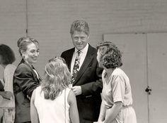 Gov. Bill and Hillary Clinton Chautauqua Lecture Platform 1991 Photo: Tom Wolf