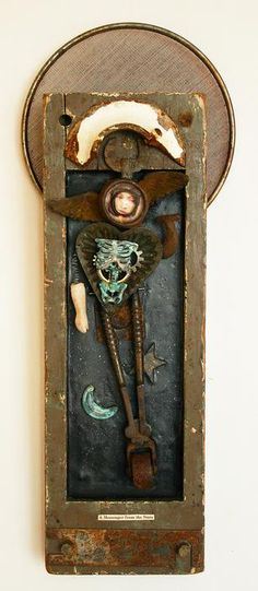 A Messenger from the Stars, mixed media assemblage by Anastasia Osolin