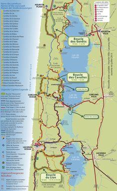 Cycling Lacanau Ocean, Carcans Ocean and Hourtin Plage - Freewheeling France Circuit Velo, Lacanau Ocean, Holidays France, Cycling Holiday, Road Trip Europe, Bordeaux France, Bike Path, Cycling Art, Camping
