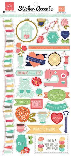 Echo Park - Handmade Collection - Cardstock Stickers at Scrapbook.com