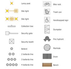 Landscape Architecture Drawing Symbols these are great ideas for the type of symbols we need, but not the