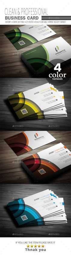 #Business #Card - Corporate Business Cards Download here:  https://graphicriver.net/item/business-card/20294076?ref=alena994