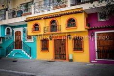Colorful Mexico Photo Fine Art Photography Puerto Vallarta Mexico Colorful Art Bedroom Office Bathroom Living Room Decor Orange Teal Purple