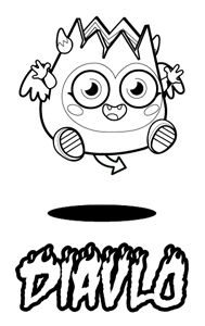 Kids Coloring In Pages - Moshi Monsters - Great for # parties # play dates # travelling