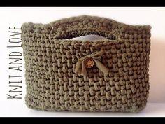 Bolso de fettuccia a crochet con asas | Aprender manualidades es facilisimo.com