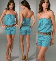 Beautiful summer fashions - Turquoise Romper