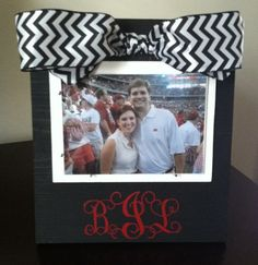 Personalized Black Frame with Black and White by PaisleyPolkaDotCo, $25.00