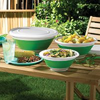Collapsible Bowl Set and Outdoor Party Plates