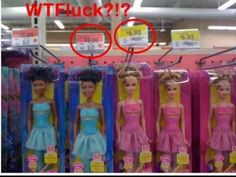 Why is she worth less than a white doll ? Why is she devalued based on skin color?